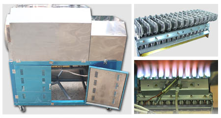 Liquefied Gas Heating type Roasting Machine